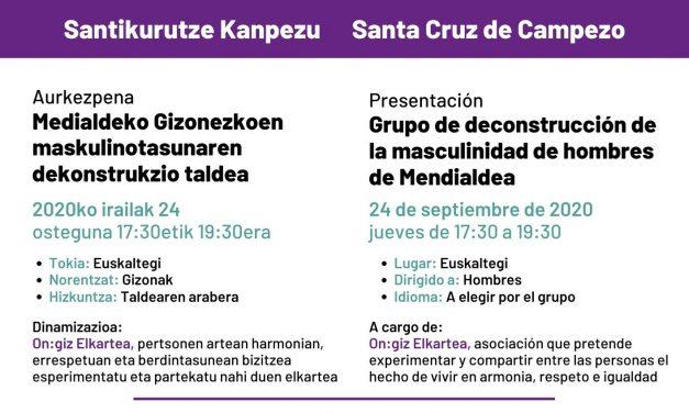 Presentación: grupo de deconstrucción de la masculinidad de hombres de Mendialdea