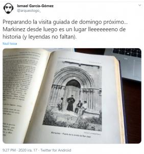 Ismael Gçomez-García prepara la visita guiada a Markinez