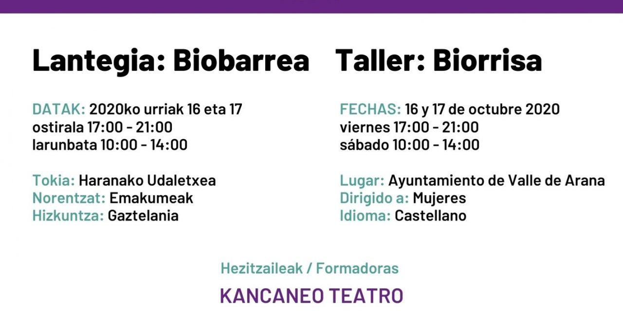 Taller de Biorrisa en Alda con Kancaneo Teatro