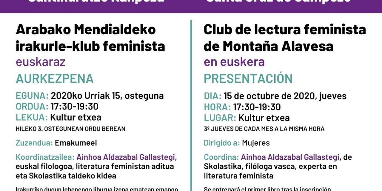 Arabako Mendialdeko irakurle-klub feminista aurkezpena