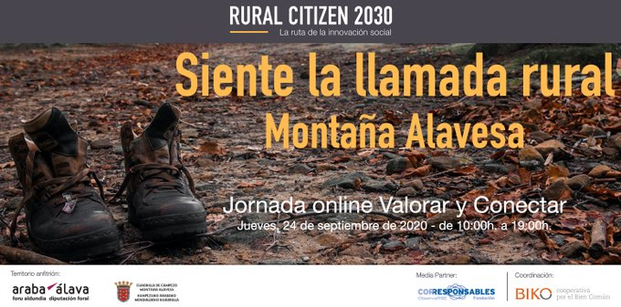 Jornada online Valorar y Conectar – Montaña Alavesa