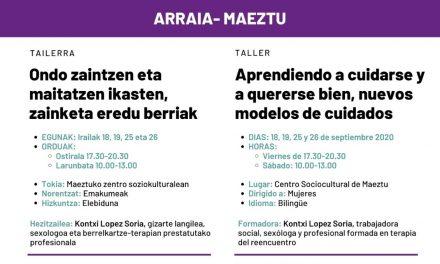 Taller/Tailerra Laia Eskola: nuevos modelos de cuidados / zainketa eredu berriak.