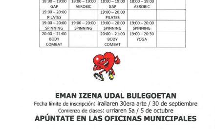 Oferta deportiva 2020/2021 kirol eskaintza