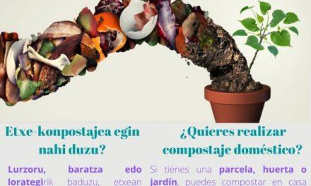 Etxe konpostajea – Compostaje doméstico