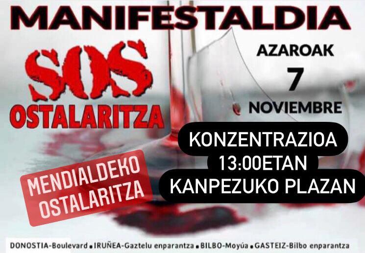 Manifestaldia SOS Ostalaritza – Manifestación SOS Hostelería