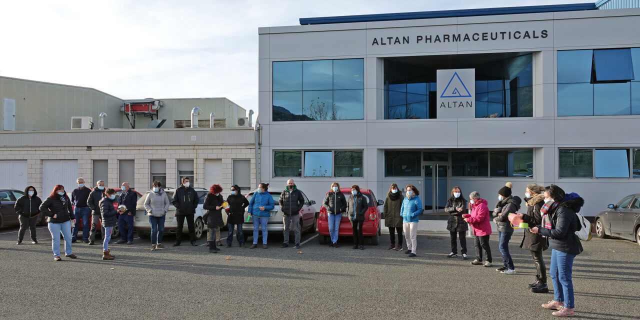 Los paros en Altan Pharmaceuticals tienen un seguimiento del 70% de la plantilla
