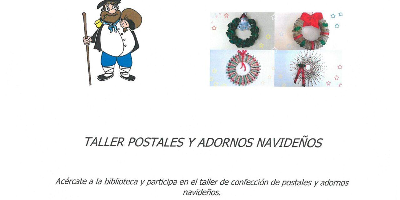 Taller de postales y adornos navideños – Gabonetako postalen eta apaingarren tailerra.