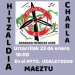 Hitzaldia – Charla
