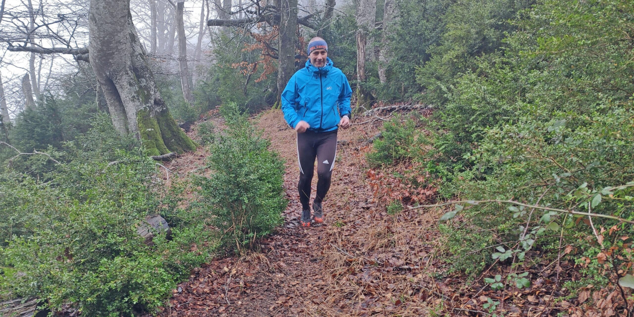 El esloveno Henrik Vacun inicia su reto reivindicativo de la Kanpezu Ioar, también cancelada este año