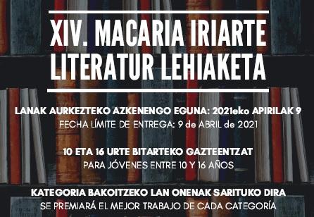 XIV Concurso Literario Macaria Iriarte Literatur Lehiaketa
