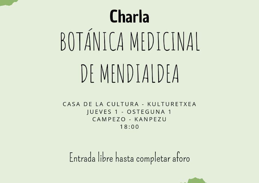 Botánica medicinal de Mendialdea