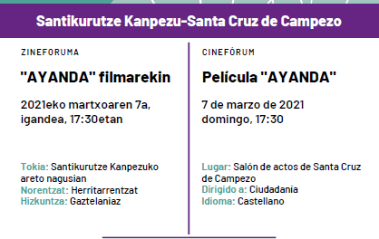 Cinefórum: Ayanda