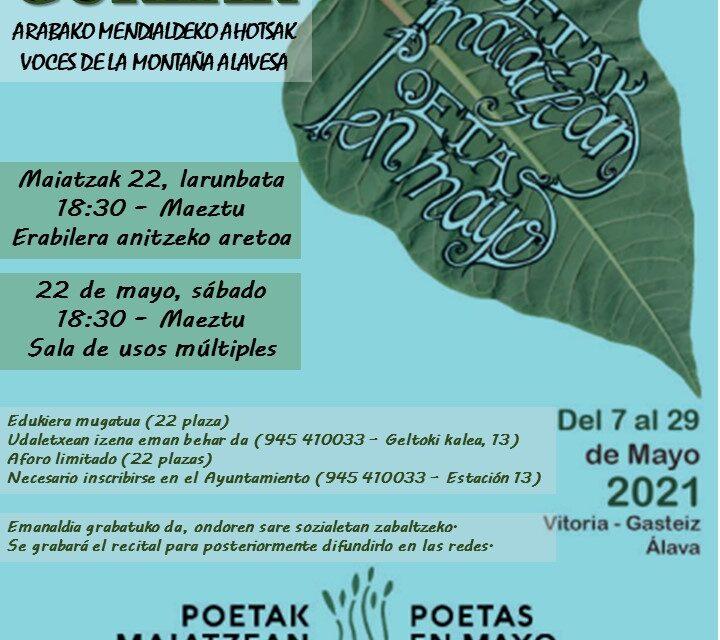 Poetas en mayo – Poetak maiatzean