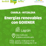 Charla: energías renovables