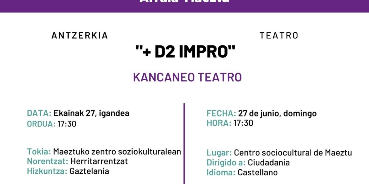Kancaneo Teatro: +D2 Impro