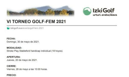 VI Torneo Golf-Fem 2021