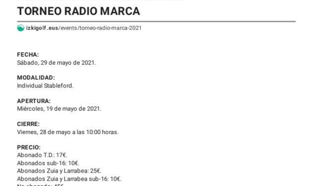 Torneo de Golf Radio Marca