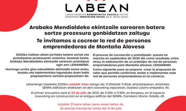 Jornada de cocreación de la Red de personas emprendedoras de Montaña Alavesa