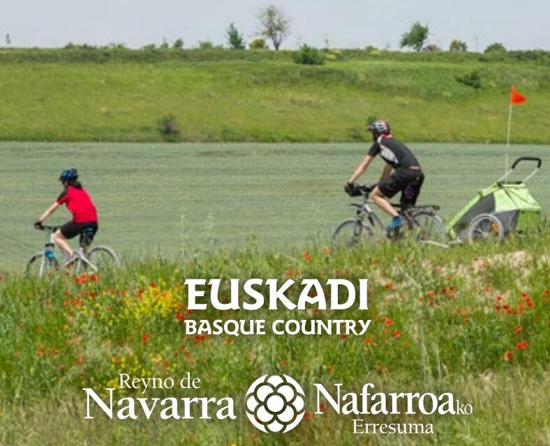 Navarra y Euskadi presentan los nuevos elementos promocionales de la Vía Verde del VascoNavarro