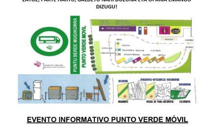 Evento informativo Punto Verde Móvil Peñacerrada