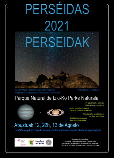 Perséidas 2021 Perseidak (Korres, abuztuak 12 de agosto)