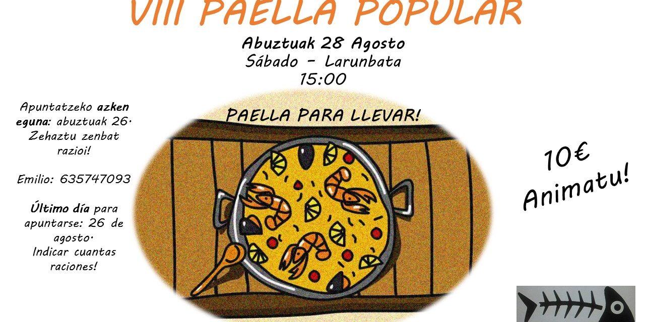 VIII Paella popular