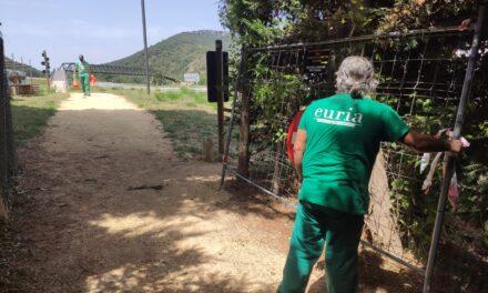 La Vía Verde del Vasco Navarro recupera en Antoñana el tramo cerrado por los desprendimientos
