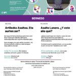 Bilera – Reunión: Asalto Lanero – Artilezko Asaltoa (Bernedo, irailak 25 de septiembre)