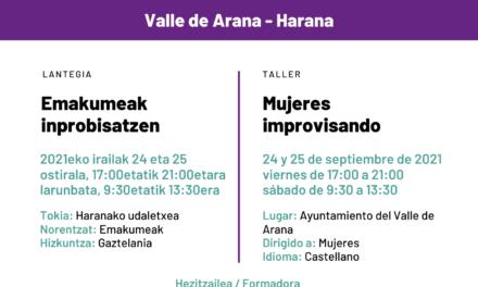 Taller-Lantegia: mujeres improvisando – Emakumeak inprobisatezen (Alda Irailak 24-25 de septiembre)