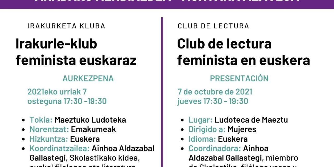 Aurkezpena: Irakurle-klub feminista euskaraz (Maeztu, urriak 7 de octubre)
