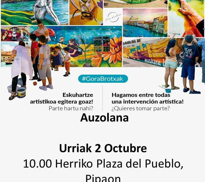 Taller de pintura participativo – Pintura partehartzaile tailerra (Pipaon, urriak 2 de octubre)