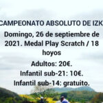 Campeonato absoluto Izki Golf (Irailak 26 de septiembre)