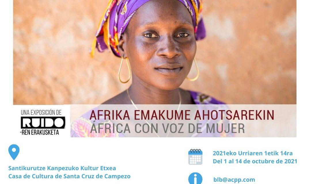 Erakusketa-Exposición: África con voz de mujer – Afrika emakume ahotsarekin