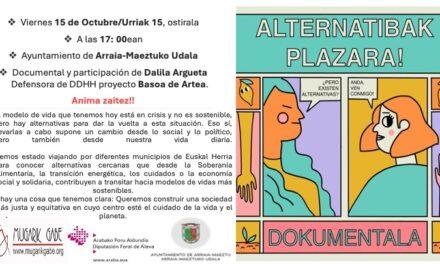 Documental – Dokumentala: Alternatibak plazara! (Maeztu, urriak 15 de octubre)