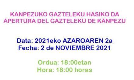 Apertura del Gazteleku